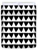 Black And White Triangles- Art By Linda Woods Duvet Cover by Linda Woods