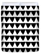 Black And White Triangles- Art By Linda Woods Duvet Cover