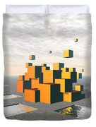 Surreal Floating Cubes Duvet Cover