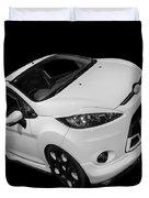 Black And White Ford Fiesta Duvet Cover