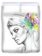 Butterfly Queen Duvet Cover by Olga Shvartsur
