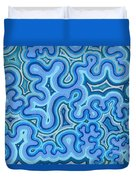 Bluelines_03 Duvet Cover