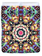 Colorful Concentric Abstract Duvet Cover