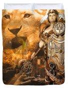 Leona Lioness Warrior  Duvet Cover