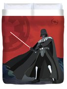 Darth Vader Star Wars Character Quotes Poster Duvet Cover by Lab No 4