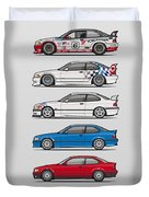 Stack Of Bmw 3 Series E36 Coupes Duvet Cover