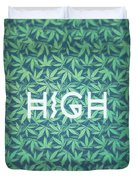 High Typo  Cannabis   Hemp  420  Marijuana   Pattern Duvet Cover