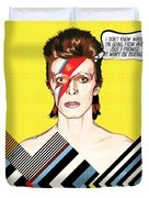 David Bowie Pop Art Duvet Cover