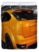 Electric Orange Duvet Cover