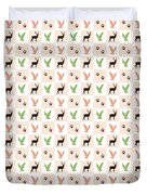 Rustic Wildlife Pattern Duvet Cover