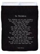 On Children Duvet Cover