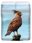 Long Crested Eagle Duvet Cover