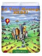All Roads Lead To Houston Duvet Cover