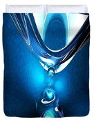 Glowing Blue Abstract Duvet Cover