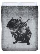 Angry Street Art Mouse  Hamster Baseball Edit  Duvet Cover