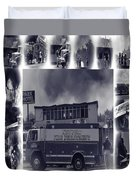 Newport Oregon Fire Department Drill - Practice Fire Drills Duvet Cover