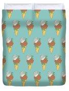 Rose Ice Cream Duvet Cover
