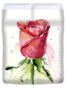 Rose Watercolor Duvet Cover