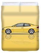 Holden Monaro Vz Cv8 Yellow Duvet Cover