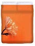 Chrysanthemum Orange Duvet Cover