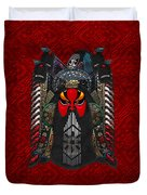 Chinese Masks - Large Masks Series - The Red Face Duvet Cover