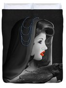 Mystic Woman With Raven Duvet Cover