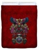 Chinese Masks - Large Masks Series - The Demon Duvet Cover by Serge Averbukh