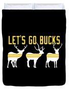 Pirates - Pittsburgh - Let's Go Bucks Duvet Cover