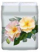 Two Wild Roses Duvet Cover