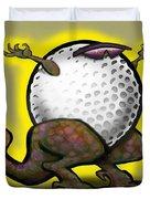 Golf Zilla Duvet Cover