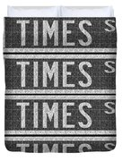 Times Square New York City Street Sign Deco Swing Duvet Cover