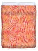 Orange Zebra Print Duvet Cover