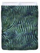 Green Zebra Print Duvet Cover