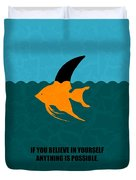 If You Believe In Yourself Anything Is Possible Corporate Startup Quotes Poster Duvet Cover