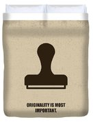 Originality Is Most Important Corporate Start-up Quotes Poster Duvet Cover