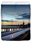 Stockholm Night - Slussen Duvet Cover
