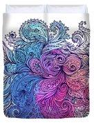 Blue Floral Indian Pattern Duvet Cover