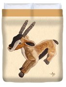 Cuddly Gazelle Watercolor Duvet Cover
