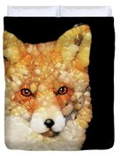 Red Fox Abstract Duvet Cover