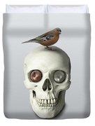 Skull And Bird Duvet Cover