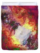 Shades Of Red Abstract Duvet Cover