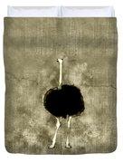 Ostrich Portrait Duvet Cover