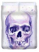 Purple Skull Duvet Cover