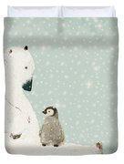 Penguin And Bear Duvet Cover