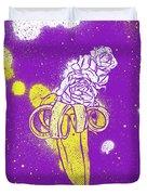 Floral Banana Duvet Cover