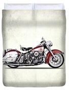 Harley Model Fl 1960 Duvet Cover
