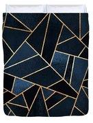 Navy Stone Duvet Cover