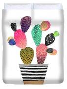 Happy Cactus Duvet Cover by Elisabeth Fredriksson