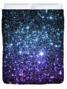 Galaxy Stars Teal Violet Pink Duvet Cover