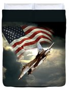 American Feedom  Duvet Cover by Regina Femrite